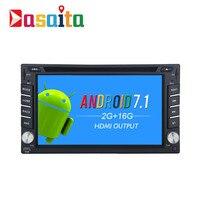 Dasaita 6 2 Android 7 1 Universal 2 Din Car DVD GPS Player Navi For Nissan