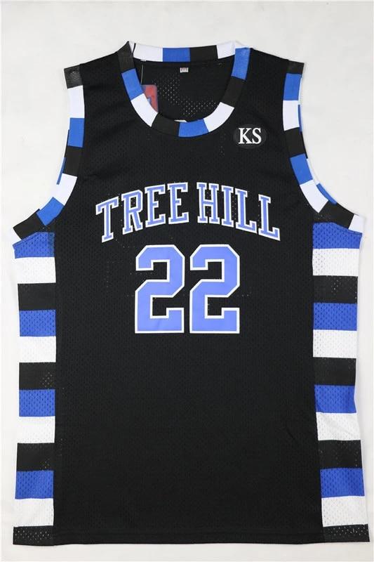 22# Black Basketball Movie Jersey Men's One Tree Hill Scott Stitched Basketball Shirt Jersey Cheap Throwback Jerseys Sl