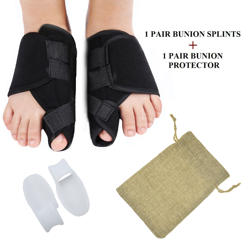 4Pcs Foot Care Tool Set Bunion Corrector Gel Thumb Correction Separator Pads Bunion Splint For Bunion Relief