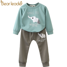 Bear Leader Kids Clothing Sets 2018 Fashion Style Baby Clothing Sets Long Sleeve Applique T-shirt+Pants 2Pc Children Clothing