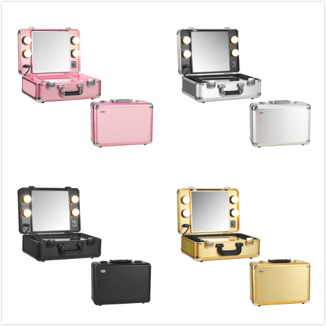 Aliexpress.com : Buy Aluminum Makeup Artist Train Case With Lights Pro  Station Portable Studio Box Five Colors With LED Light From Reliable Box  Rabbit ...