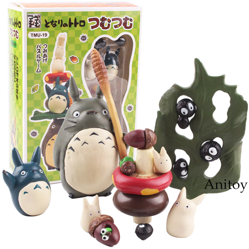 Anime Miyazaki Hayao My Neighbor Totoro Big Medium Mini Totoro Fairy Dust PVC Action Figure Collectible Model Toy Dolls hibli