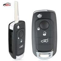 KEYECU 3 Button Remote Flip Car Key 433.92MHz for Fiat 500X Egea Tipo 2016 2018 I6FA Model with Megamos AES 4A/48 Chip
