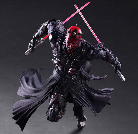 ФОТО Wholesale 16pcs pop PA Star Wars Darth Maul fighting style action pvc figure character toy tall 28cm in box via EMS.