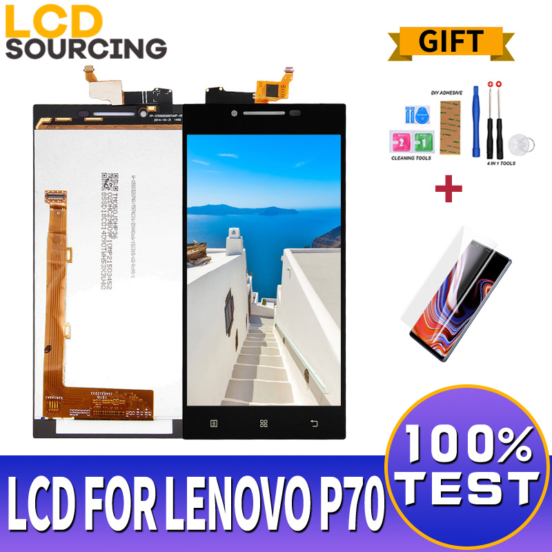 5.0 inch For <font><b>Lenovo</b></font> <font><b>P70</b></font> LCD <font><b>Display</b></font> Touch Screen Digitizer Assembly with Frame Replacement for <font><b>Lenovo</b></font> <font><b>P70</b></font> <font><b>Display</b></font> Screen P70T image