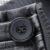 Homens Trench Coat moda L-3XL Gola Jaqueta Com Zíper Com Caixilhos Slim Fit Longo de Lã Casacos de Inverno Cor de Café K275
