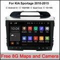 Quad core Android 9 polegada para KIA Sportage 2010-2015 Carro DVD rádio navegação 2din DVD Sportager Navegação GPS wi-fi odb2 câmera