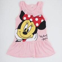 2019 New Fashion Toddler Baby Girls Dress Cartoon Summer Sleeveless Casual Sundress Kids Clothing for