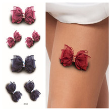 Fashion 3D Temporary Tattoos Painting Sexy Bow Tattoo Sticker On Women Body Paint Transfer Tattoo