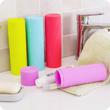 Candy Color Portable Toothbrush Toothpaste Storage box Camping Travel Toothbrush Holder Case Family Travel Tooth Brush Storage portable tooth mug towel toothbrush toothpaste storage bottle holder w strap pink