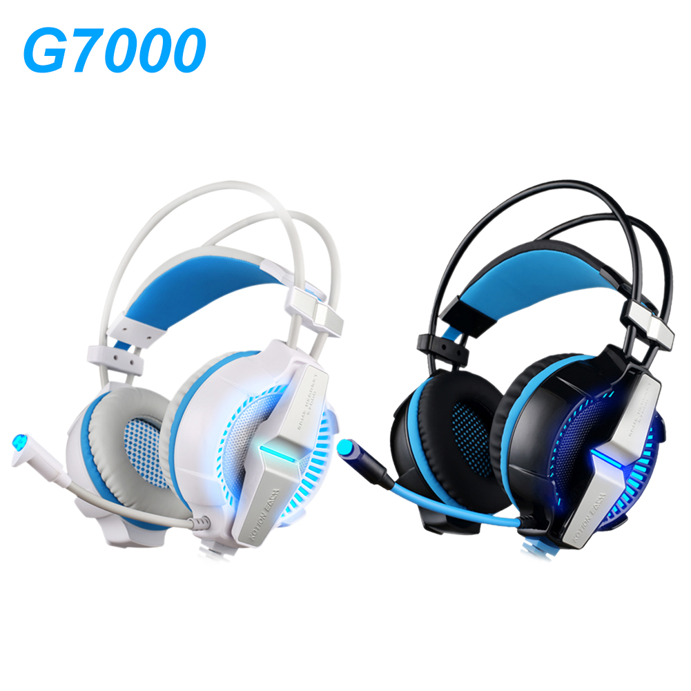 Stereo Gaming Headphones with Microphone 7.1 Surround Sound Deep Bass Gamer Headset for Computer Best casque+LED Line Controller each g8200 gaming headphone 7 1 surround usb vibration game headset headband earphone with mic led light for fone pc gamer ps4
