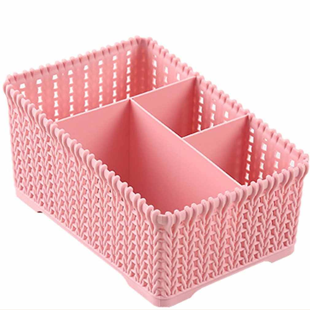 Desktop Shelves Storage Box Durable Plastic Makeup Storage Box Organizer Tissue Box Small Items Storage Case