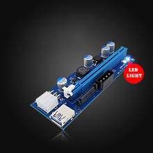 цена на PCI-E Extension Card ETH Mining BTC Graphics Adapter 6PIN USB Miner Rig Extension Cable Power Supply With LED Light 10PCS C
