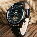 Mens Watches Top Brand Luxury Men Military Sport  Hardlex Glass Wristwatch Leather Mechanical Automatic Watch Relogio Masculino