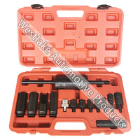 14pcs Tool Set Diesel Injector Extractor Puller With Common Rail Adaptor Slide Hammer Removal Tool Kit