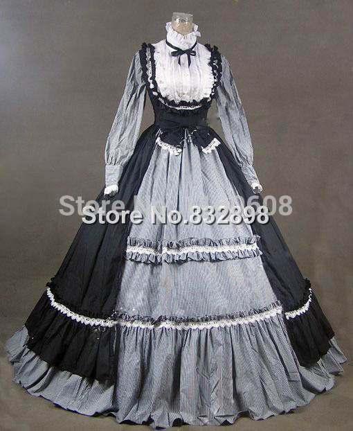 Victorian Gothic Lolita Dress Ball Gown Prom Long Dress