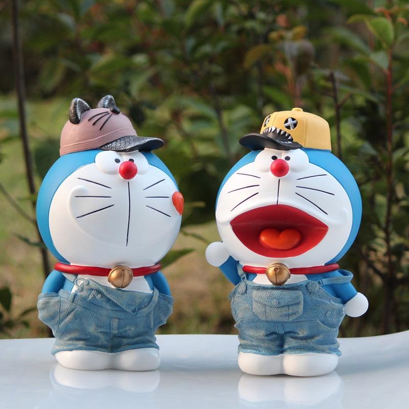 24cm Doraemon Car Interior Nobita Nobi Cat Piggy Bank Vinyl Cartoon Anti fall Saving Box Action Figure Collectible Model Toy 294