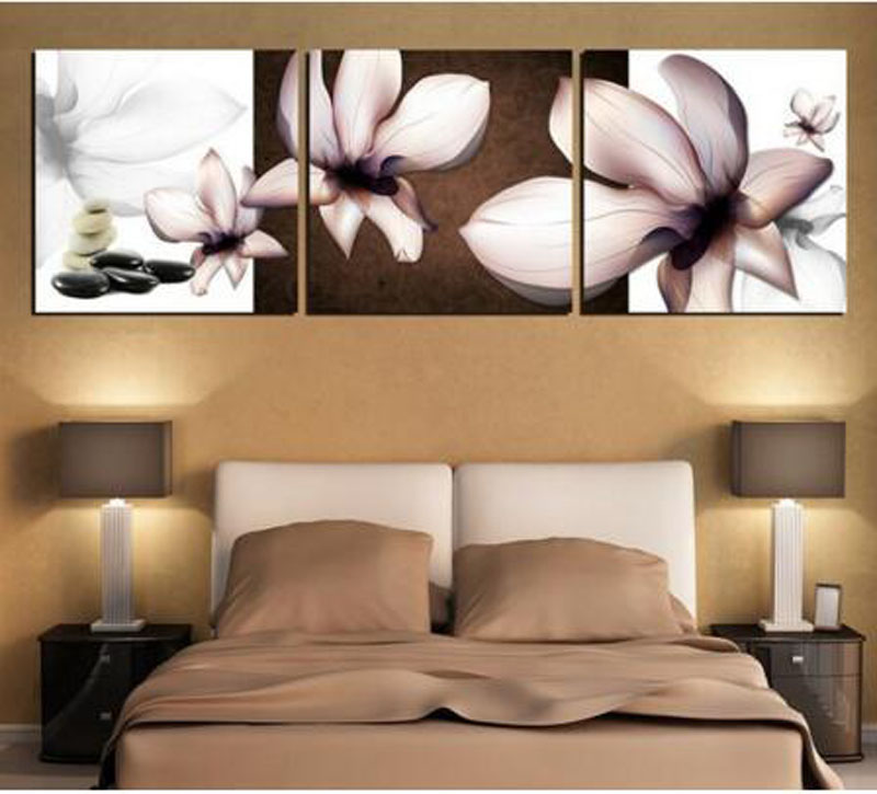 Modern Wall Painting Black-white Flower Wall Pictures Home ...