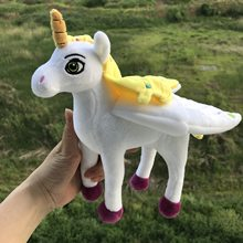 BOLAFYNIA Children Plush Stuffed Toy mia and me unicorn horse doll Baby Kids Toy for Christmas Birthday gift(China)