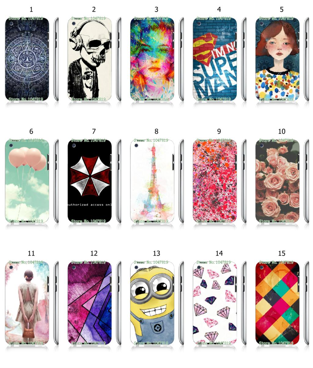 Mobile Phone Case Hot 1pc Minions Ballon Flowers Hybrid Design Protective White Hard Case For ipod touch 4 4th Free Shipping