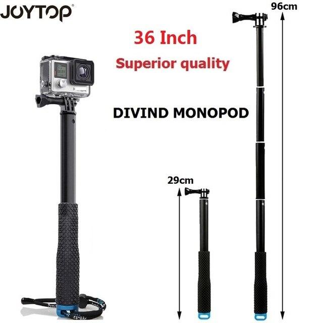 "36"" Go Pro selfie Stick Action Camera diving Extendable Aluminium Selfie Monopod For GoPro HERO + SJCAM For Xiaomi yi 4k"
