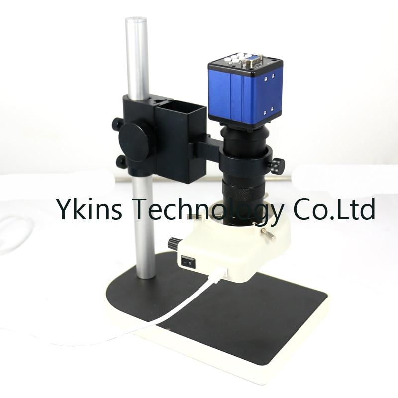 Vga выход цифровой промышленный микроскоп Камера + 130X c-креплением + 56 светодиодный кольцо свет + подставка держатель