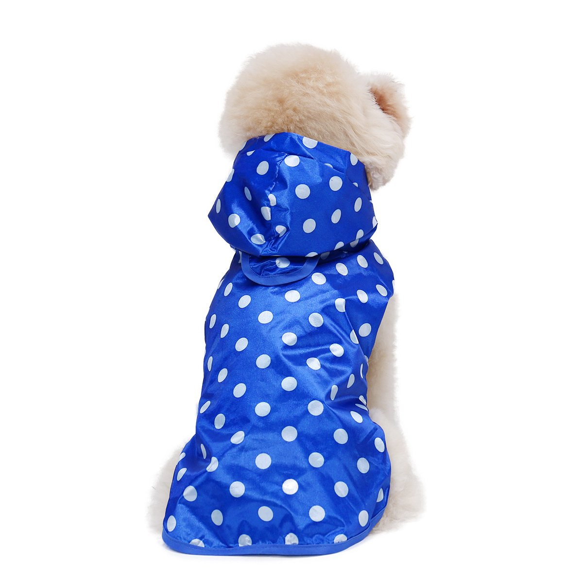 Pet Dog Raincoat Dot Puppy Waterproof Clothes Hoodie Jacket Puppy Raincoat For Small Large Puppy Pet Rainy With Hood