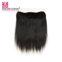 Dream Diana Peruvian Hair Straight 13x4 Lace Frontal Remy Virgin Straight Hair Lace Frontal Closure Pre Plucked With Baby Hair(China)