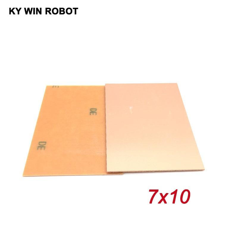 5pcs PF PCB 7*10 Single Side Copper Clad Plate DIY PCB Kit Laminate Circuit Board 7x10cm