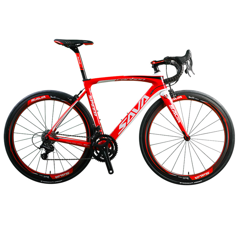 SAVA HERD9.0 700C Carbon Fiber Road Bike Cycling Bicycle with CAMPAGNOLO CENTAUR 22 Speed Groupset and Fizik Saddle