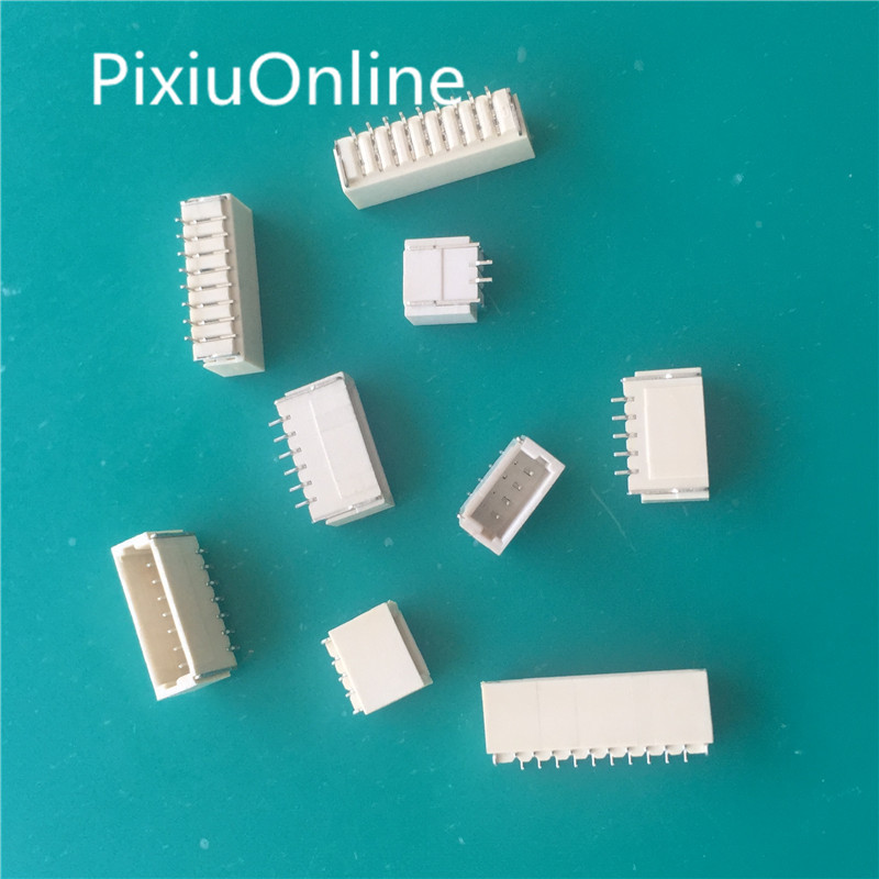 50PCS/LOT YT1889B SH 1.0 mm Spacing Connector 2P/3P/4P/5P/6P/7P/8P/9P/10P Horizontal SMD Connector 1.0mm pitch patch plug