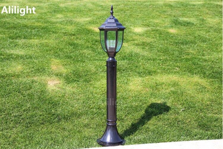 Nero bronzo cm led luci del giardino lampada paesaggio strada