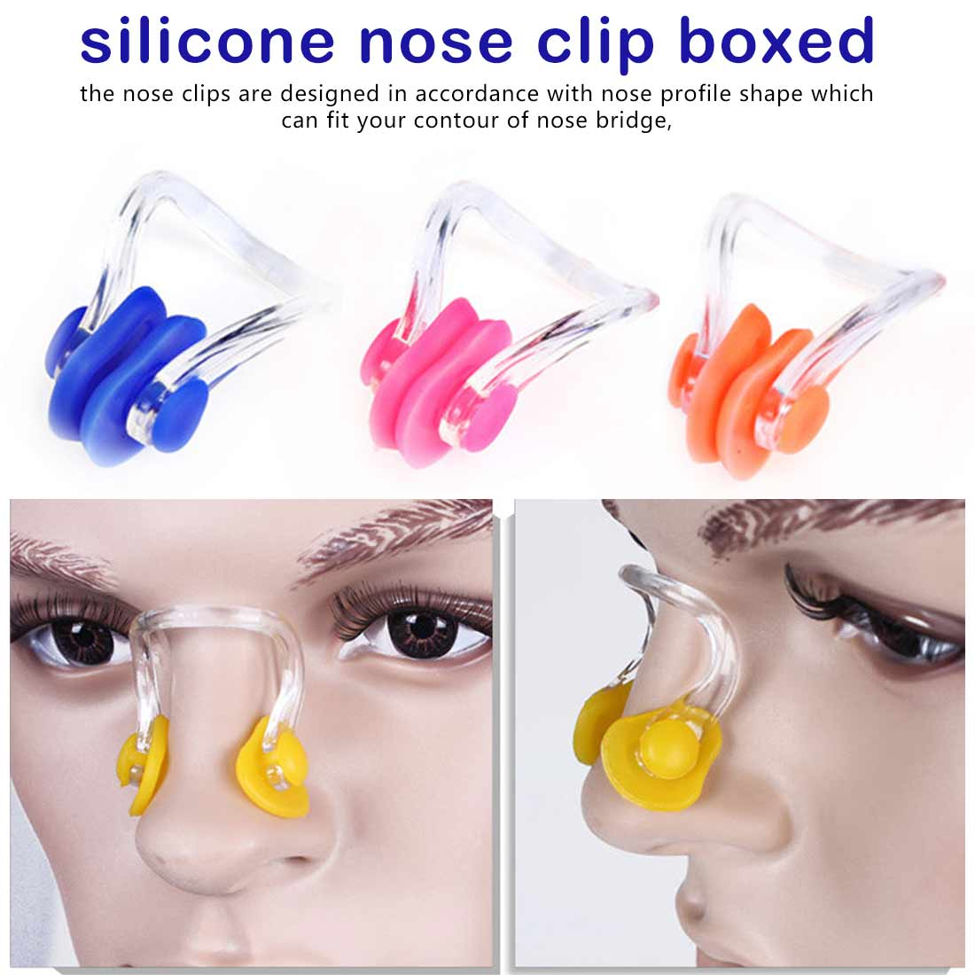 Clip Box Soft And Comfortable Adult Children Universal Swimming Beach Silicone Nose Clip Waterproof Equipment Accessories