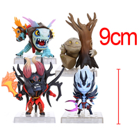 2017 Hot Sale Dota 2 Slark Doom Tiny VS PVC Game Collection Model 4pcs Set Action