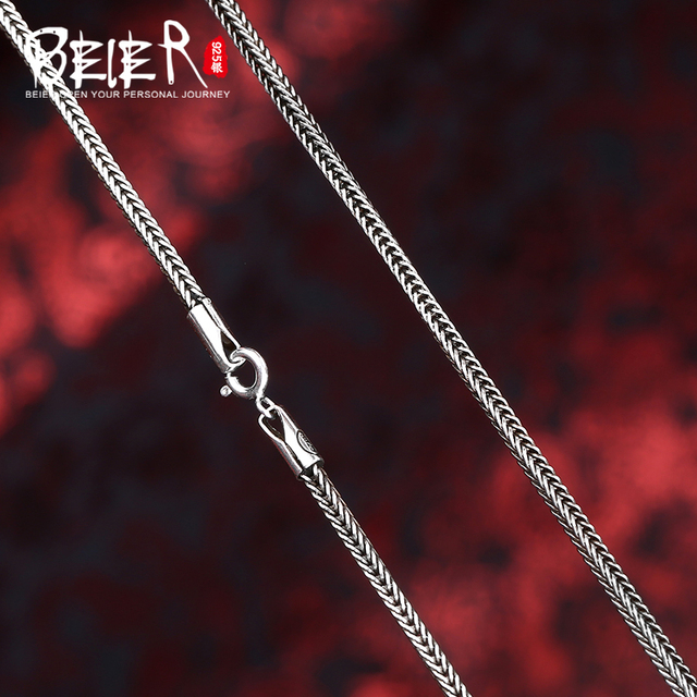 Beier new store 100% 925 silver sterling necklaces pendants trendy fine jewelry chains necklace for women/men  BR925XL085