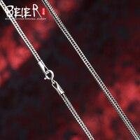 Beier yeni mağaza 100% 925 gümüş sterlini kolye kolye trendy güzel takı zincirleri kadınlar için kolye/erkekler BR925XL085