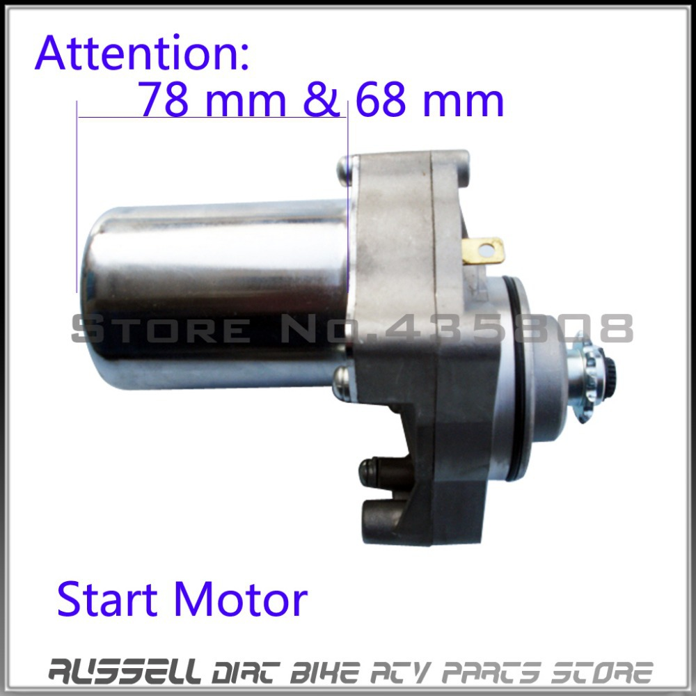 medium resolution of electric starter motor starting motor 3 installation hole fit atv dirt bike motorcycle off road 50cc 125cc