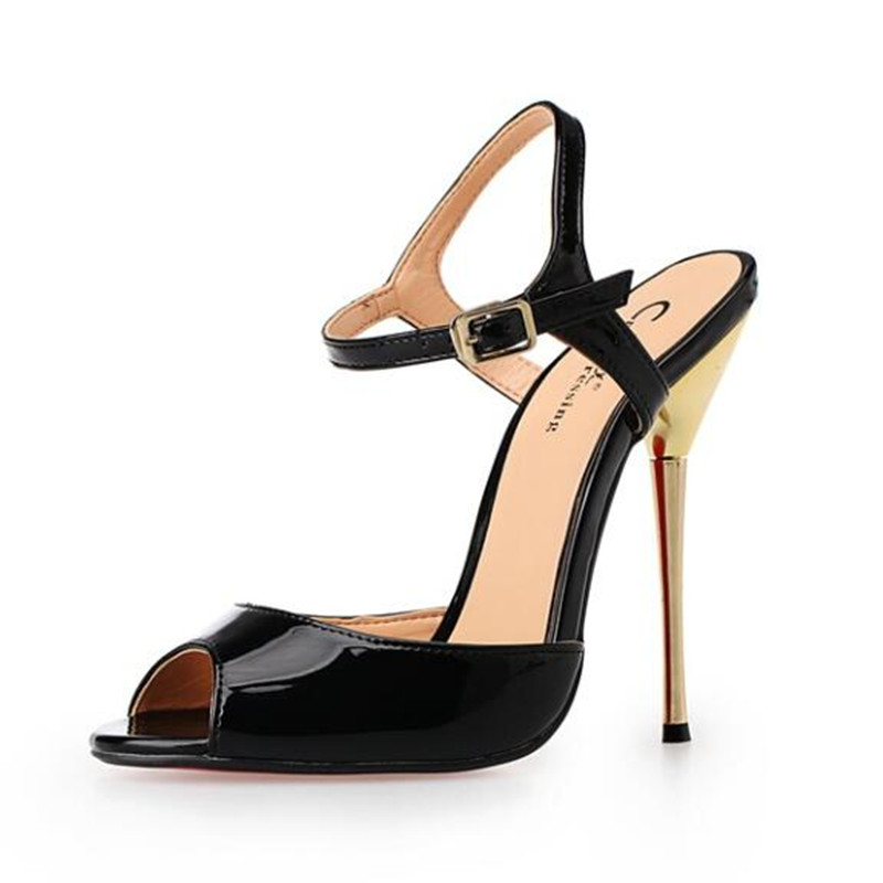 Plus Size Big 40 45 50 Women Men Thin High Heels Sandals Peep Toe Buckle Strap Sex Pumps Men Cosplay Pumps Fetish Shoes hollister soldes
