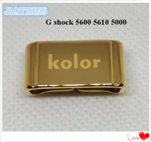 Free Shipping 1pc Custom 20mm Gold Metal Strap Keeper for G shock