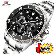 Горячая бренд Tevise для мужчин кварцевые часы мужские лучший бренд класса люкс спортивные из нержавеющей стали Мужской Relogio masculino 2018 Новый