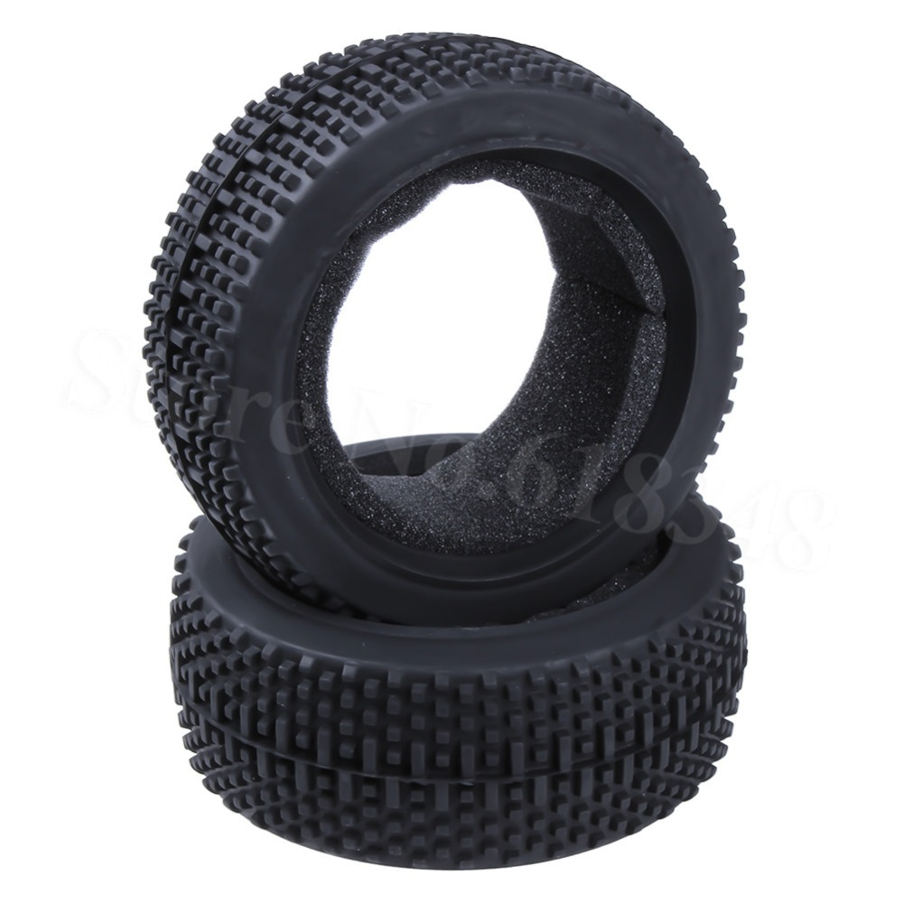 2pcs RC 1/8 Buggy Rubber Tyre Tire Diameter 115 Width: 42mm For HSP Redcat HPI Losi Hobao Hyper