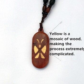 деревянный сундук с сокровищами   Медальон иллюзиониста ручной работы Волшебная бабочка Pterocarpus Santalinus Trick кулон ожерелья Рождественский подарок на день Святого Валентина