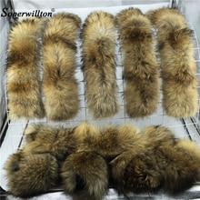 60 см 65 см 70 75 см, рост: 80 см, 90 см натуральный из натурального меха енота меховой воротник шарф Для женщин зимнее пальто Кепки теплый воротник из натурального меха шарфы D