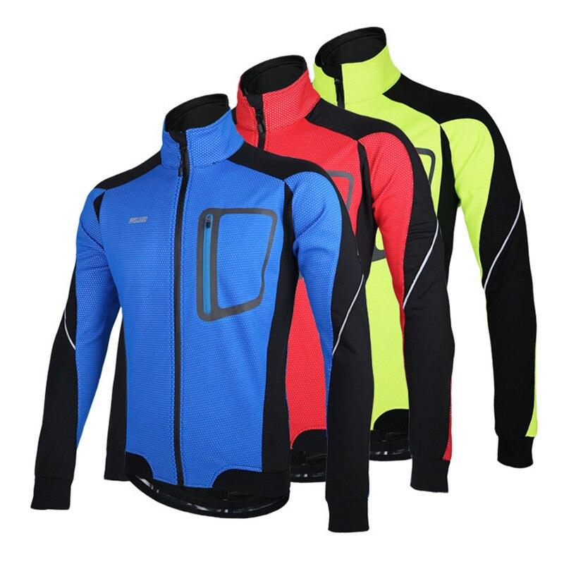 Arsuxeo  reflexivo chaqueta invierno ciclismo a prueba de viento chaquetas bicic
