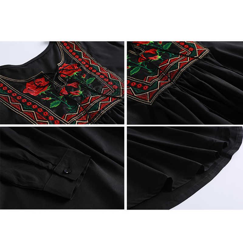 Plus Größe 6XL 7XL 2019 UAE Islam Arabisch Abaya Dubai Türkei Muslim Langarm Top Frauen Ropa Musulman Mujer Saudi arabischen Kleidung