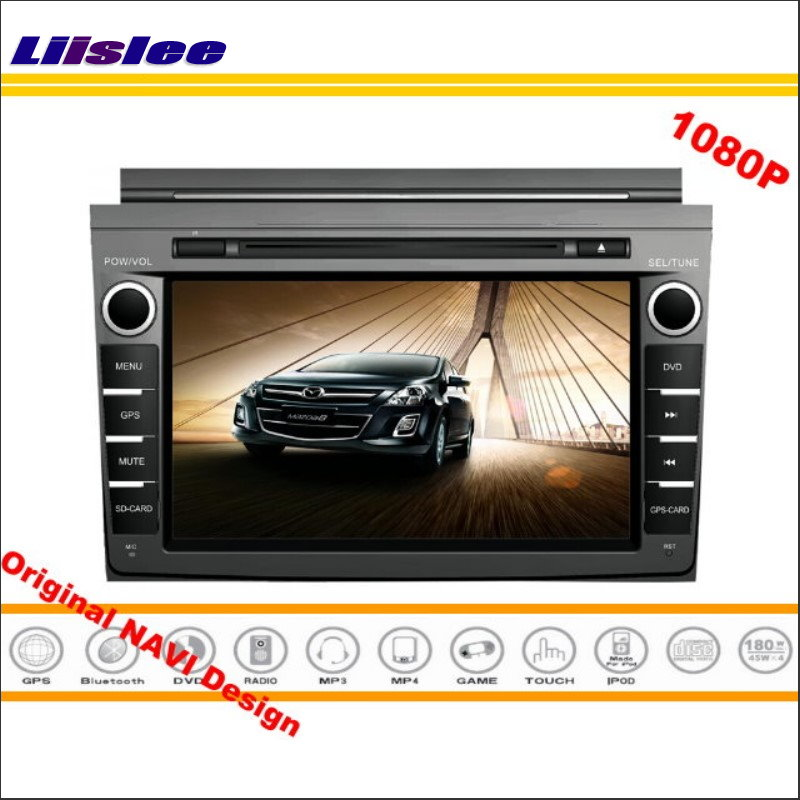 Liislee For Mazda 8 2006~2016 Stereo Radio CD DVD Player GPS NAV Navi Navigation 1080P HD Screen System ( Original With Aux )
