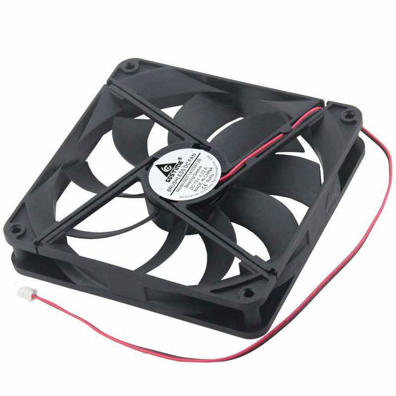 Gdstime 1 Piece DC 12V 2 Pin 140x140mm 14025 CPU Computer Case Cooling Fan 140mm x 25mm 14cm PC Cooler 5.5 inch gdstime 1 piece dc 12v 2 pin 140x140mm 14025 cpu computer case cooling fan 140mm x 25mm 14cm pc cooler 5 5 inch