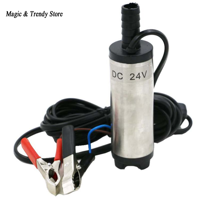 12V DC Diesel Fuel Water Oil Car Camping Fishing Submersible Transfer Pump bottom removable 38mm dc 12v water oil diesel fuel transfer pump submersible pumps car camping new stainless steel