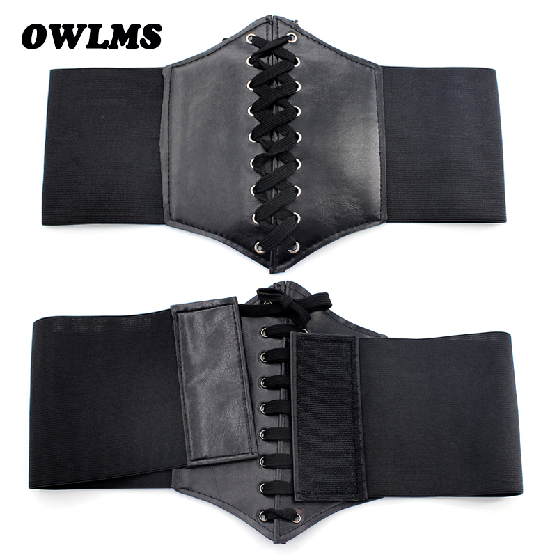HOT Sale Tie Wide Belts For Women Famous Brand Designer Party Cummerbunds Women's Black Costume Belts Corset Elastic Waistbands