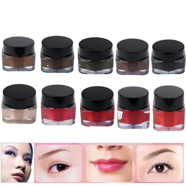 2016 HOT New Arrival 10pcs Microblading Pigment Permanent Makeup Eyebrow Lip Tattoo Ink High-graded Anne